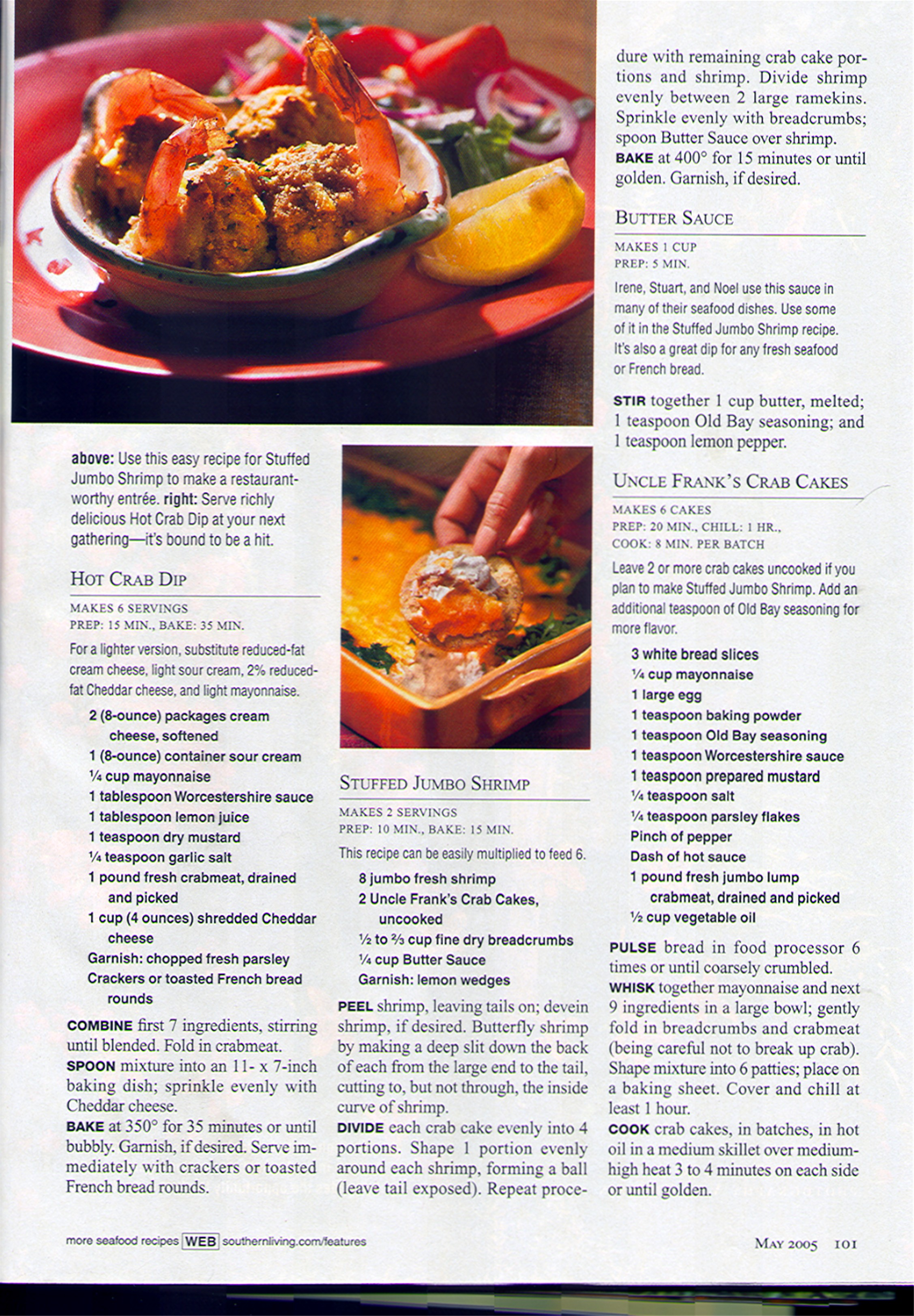 Southern living magazine may 2005 edition tangier island recipes forumfinder Image collections